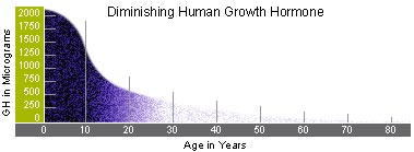 human growth hormone decline in the body as we grow older